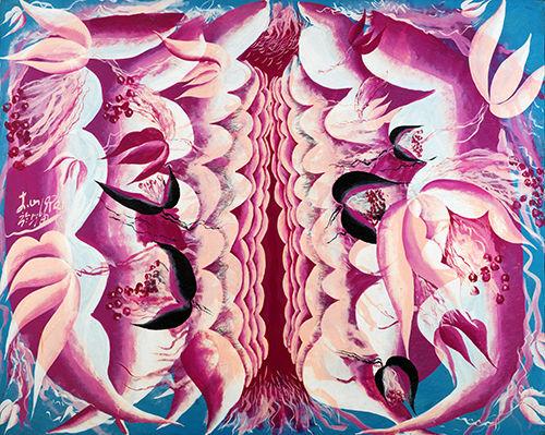 李山 胭脂 No.9 丙烯画布 120×149cm